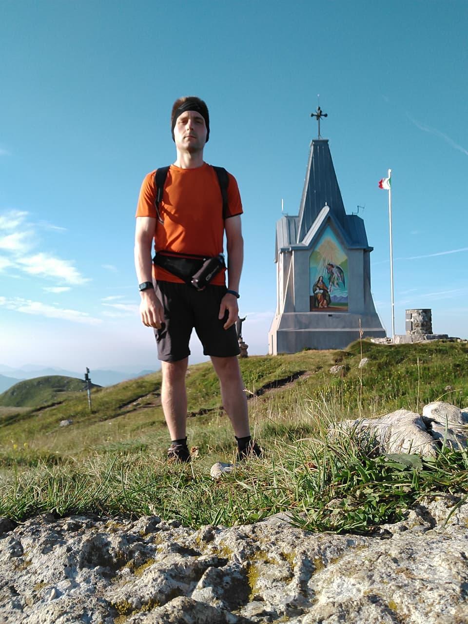 Stanco ma appagato dall'ennesima ascesa al Monte Guglielmo (agosto 2018)
