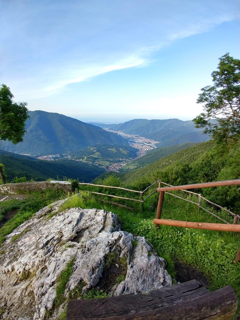 Dal Santuario di Sant'Emiliano è possibile ammirare la nostra Valle Trompia