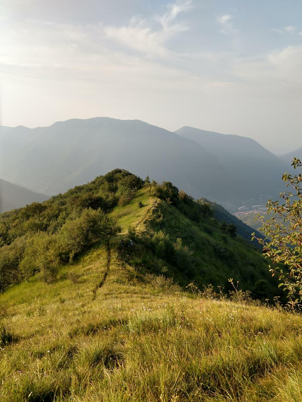 Ecco il tratto finale del sentiero che porta sul Monte Doppo