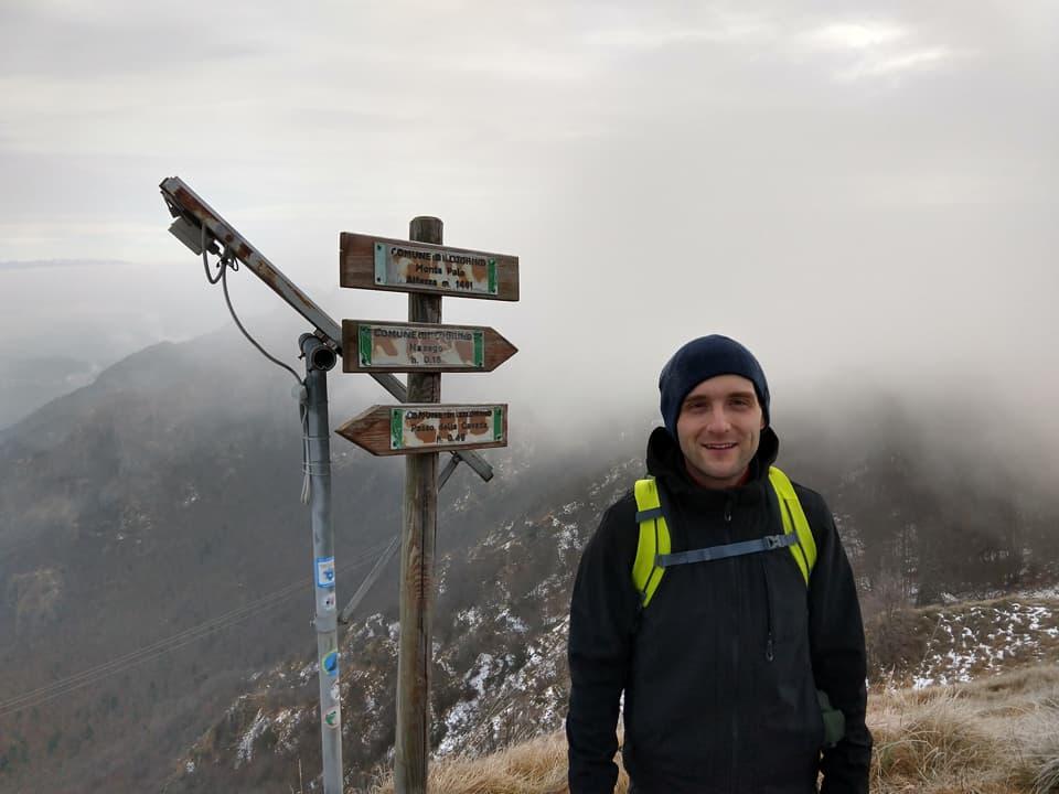 Eccomi sulla cima del Monte Paolo dove incontro due simpatici compagni di avventura