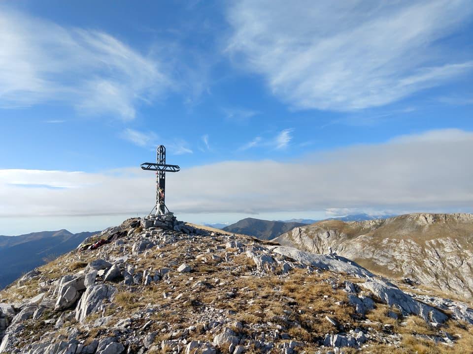 Dopo una faticosa ascesa eccoci finalmente sulla Cima delle Saline a quota 2612 m.