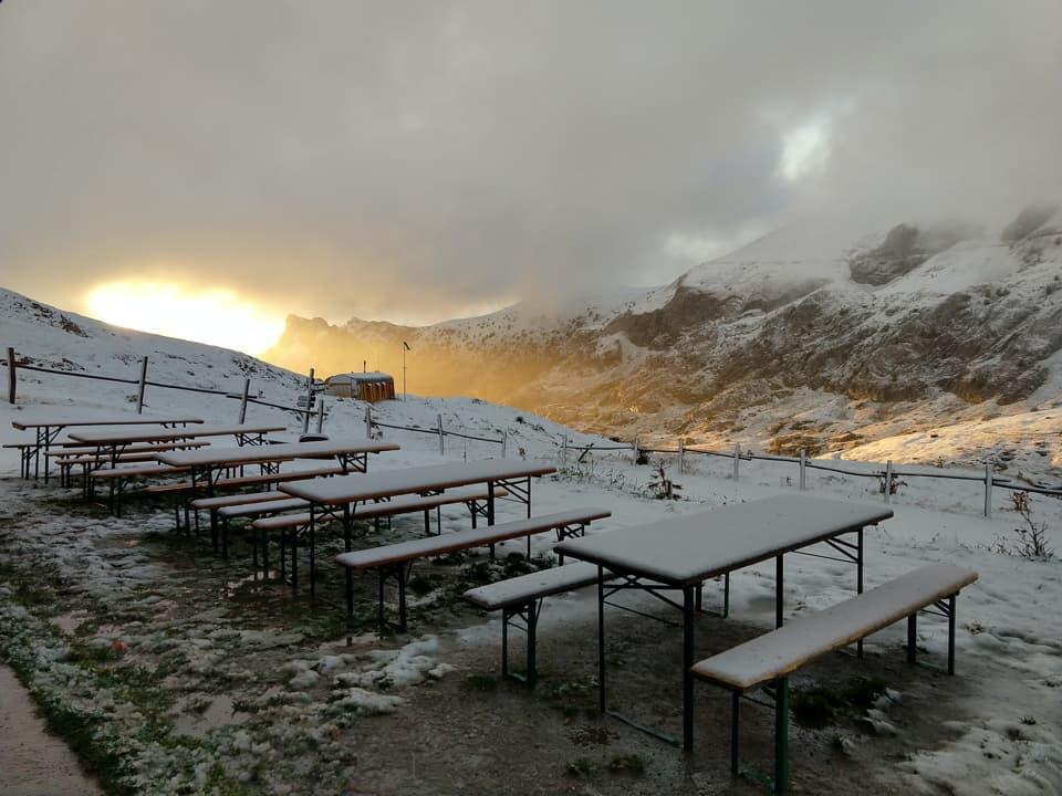 Ecco la prima sorpresa della giornata: la neve! Elemento tanto piacevole quanto inatteso.