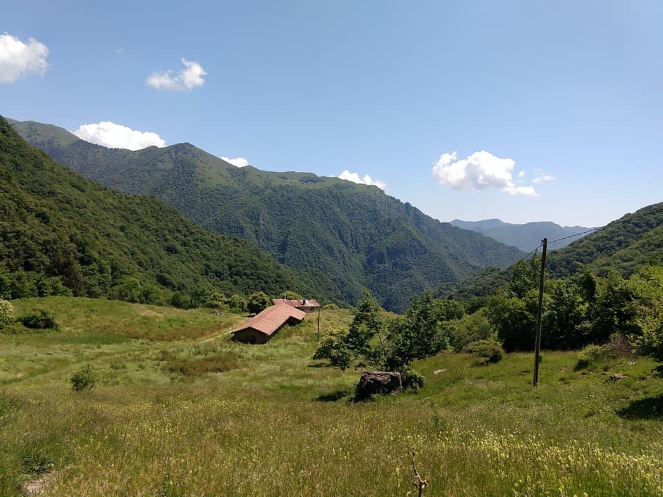 Il sentiero 314 che consente di scendere nella Valle di Inzino attraversa la soliva Malga Casere